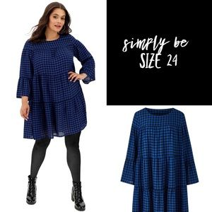Simply be checkered dress